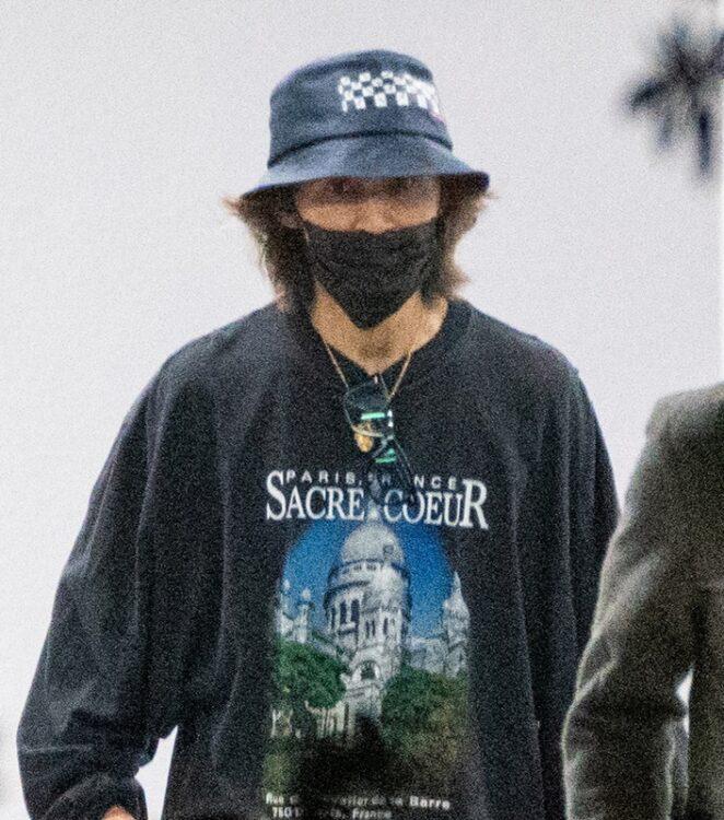 9月29日のライブ後、松本孝弘とはは別々に出てきた稲葉浩志