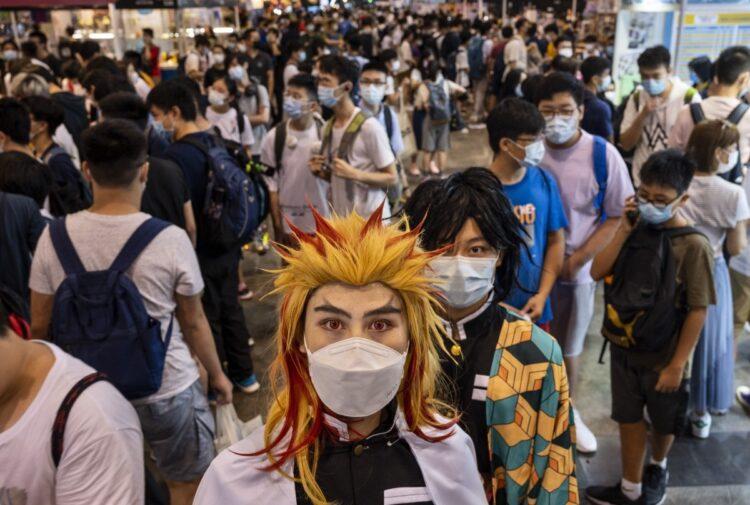2021年7月、香港で開催されたアニコム香港の様子。アジア圏で日本のアニメ、ゲームの人気は高い(AA/時事通信フォト)