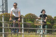 B美さんとはサイクリングを楽しむ海老蔵