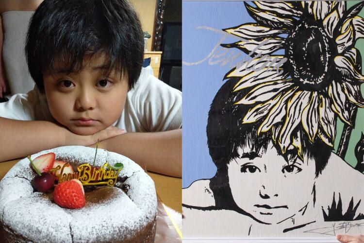松の木が直撃した事故で亡くなった小学5年生の川崎辿皇(てんこう)くん。この絵から奇跡のような連鎖が起こった。
