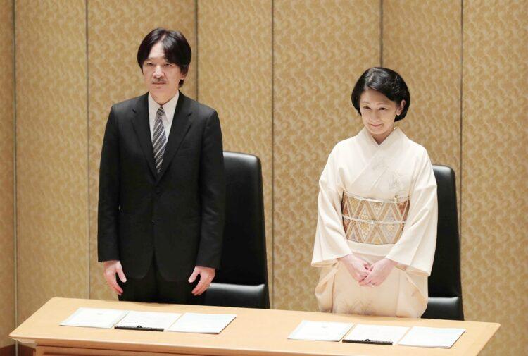 小室さんとの面会後は浮かないご表情だったという(写真は2019年10月、渋谷区。時事通信フォト)